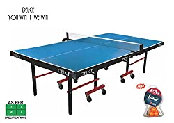 DEUCE 801 IN TABLE TENNIS TABLE ( With Free Stag TT Bats and Balls )