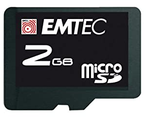 EMTEC 2 GB Class 4 60x microSD Flash Memory Card with SD Adapter