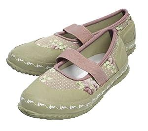 Tierra Garden GGTSI41 Garden Girl Neoprene Slip-in Shoe, Size 8, Beige and Roses