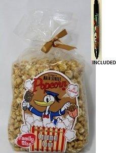 Disney Main Street Donald Duck FAMILY SIZE Caramel Popcorn - Disney Parks Exclusive & Limited Availability (To ensure fresh product, orders are fulfilled as received and subject to availability - Choosing expedited shipping service is recommended for gre