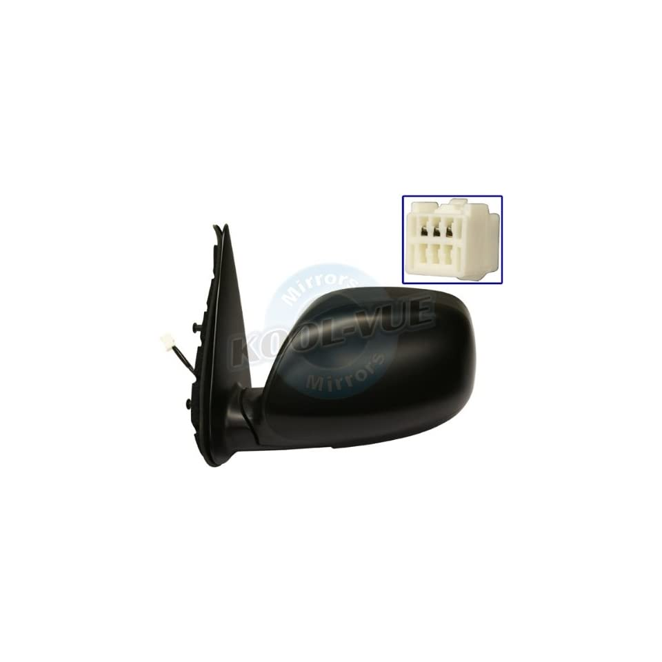 2003, 2004 Toyota Tundra Limited Driver Side Mirror Head Assembly   Power Non Heated Foldable Primed Black