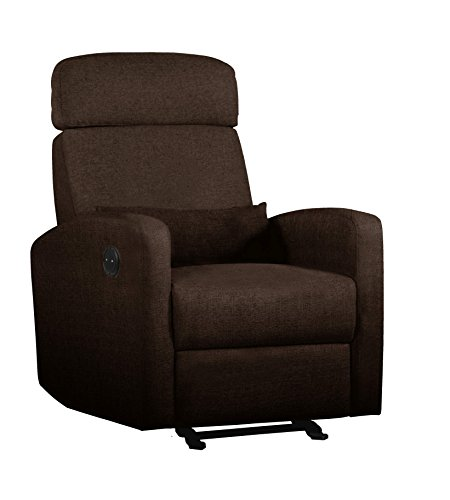 Shermag Electric Power Motion Recliner, Brown - 1