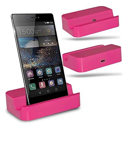 Huawei P8 Station d'accueil de bureau avec chargeur Micro USB support de chargement - Pink - By Gadget Giant®