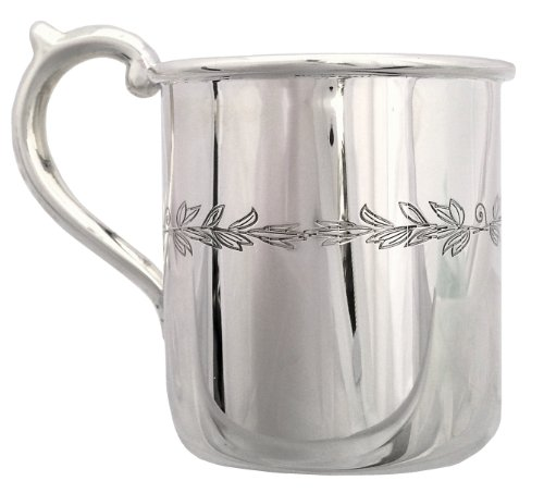 "Cunill 3.5-Ounce ""Floral"" Baby Cup, 2.12-Inch, Sterling Silver - 1"