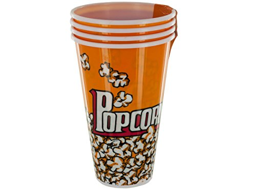 Yellow Popcorn Bucket Cups Set-Package Quantity,4