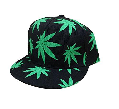 Marijuana-Weed-Leaf-Cannabis-Snapback-Hat-Cap