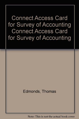 Connect Access Card for Survey of Accounting