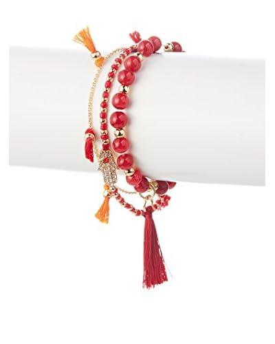 Jules Smith Red Tassel Hamsa Bracelet Set