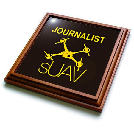 Trv_179956_1 Kike Calvo Drone And Unmanned Vehicle Collection - Black And Yellow Drone For Journalist And Photographer - Trivets - 8X8 Trivet With 6X6 Ceramic Tile