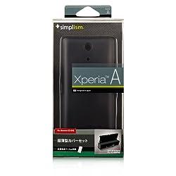 Simplism Xperia A用 超薄型カバーセット(クリアブラック) TR-UTXPA-BK