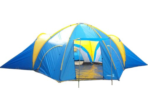 Peaktop 3 Rooms 8 Person Dome C&ing Tent Blue / Yellow  sc 1 st  Peggy Martinez Reviews & Peaktop 3 Rooms 8 Person Dome Camping Tent Blue / Yellow | Peggy ...