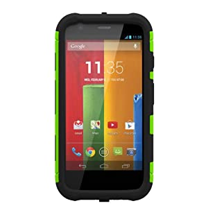 Trident Aegis Series Case for Motorola Moto G - Retail Packaging - Green