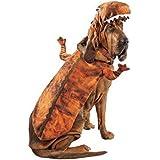 T-Rex Dog Costume Plush Brown Dinosaur Pet Outfit