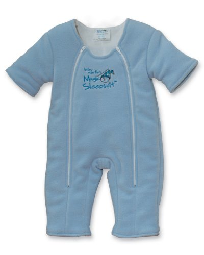 Baby Merlin's Magic Sleepsuit- Microfleece- Blue- Small - 1