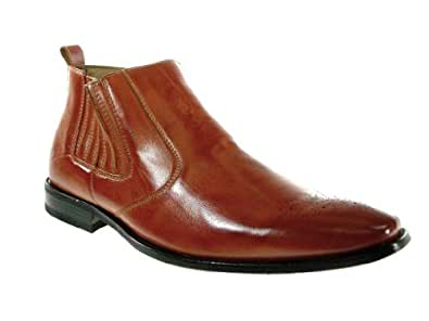 Ferro Aldo Men's 606005A Slip on Classic Ankle Boot, Brown, 13
