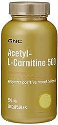 GNC Acetyl-L-Carnitine 500, Capsules, 60 ea