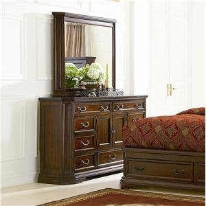 Foxhill Dresser And Mirror Set In Dark Oak Finish By Coaster front-981652
