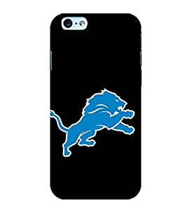 Blue Lion 3D Hard Polycarbonate Designer Back Case Cover for Apple iPhone 6