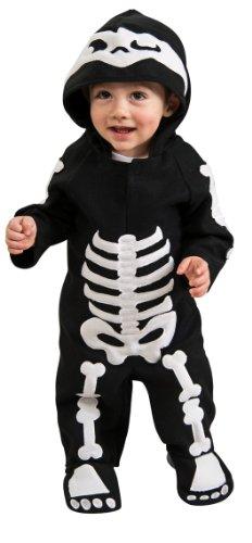 Rubie'S Costume Baby Skeleton Romper Costume, Black/White, 6-12 Months