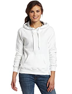 Champion Women's Eco Fleece Hoodie, White, Large