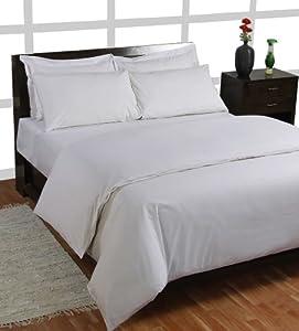 Homescapes 3 teilige Bettwäsche 240 x 220 cm weiß aus 100% reiner ägyptischer Baumwolle Fadendichte 200    Kundenbewertung: