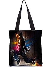 Snoogg Dance Move Digitally Printed Utility Tote Bag Handbag Made Of Poly Canvas