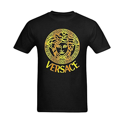 Men Versace Logo Image Design Tee Shirts