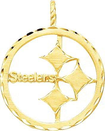 14K Gold NFL Pittsburgh Steelers Logo Charm