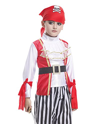Chuangmei Children's Masquerade Cosplay Halloween Caribbean Pirate Clothes