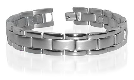 Quality Magnetic Mens Wide Bracelet For HIM 8.5 inches