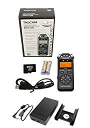 TASCAM DR-05 Handheld Portable Digital Audio Recorder w/SD Card & Battery Pack
