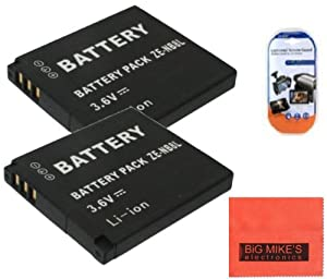 2 Pack Of NB-8L Batteries for Canon PowerShot A2200 IS A3000 IS A3100 IS A3300 IS Digital Camera Battery + LCD Screen Protectors + Micro Fiber Cleaning Cloth