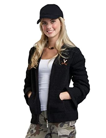 NCAA University of Virginia Kashwere U Full-Zip Hoodie (Black, Medium 4-6) by Kashwere U