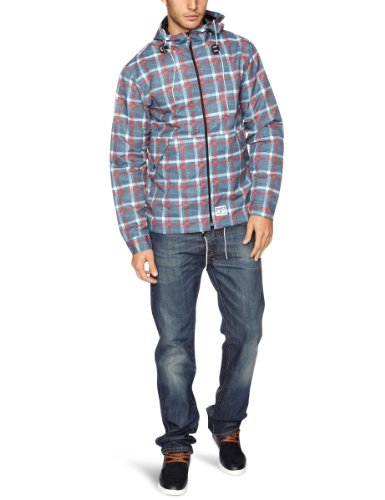 DC Clothing Atlas Men's Jacket Chambray Plaid Small