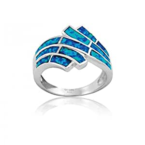 cheap opal ring sterling silver jewelry sea