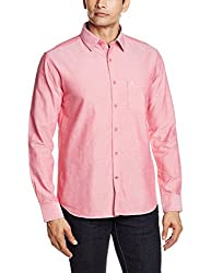 Proline Men's Casual Shirt (8907007298589_PS111_Large_Red)
