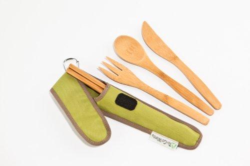 To-Go Ware Repeat Reusable Bamboo Utensil Set, Avocado