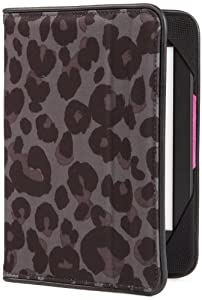 BUILT Kindle Slim Folio Cover for Kindle and Kindle Paperwhite, Smokey Leopard from Built (Kindle Accessories)