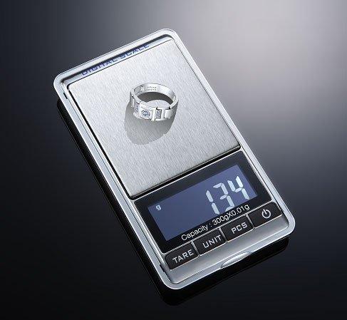 個数も計れる精密計量秤0.01g/300g PCS機能搭載 精密計量スケール