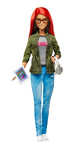 Barbie Careers Game Developer Doll (Red Barbie compare prices)