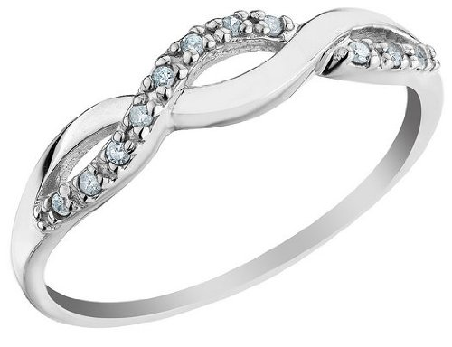 White Gold Diamond Infinity Promise Ring