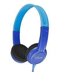 MEE Audio HP-KJ15-BL-MEE KidJamz Lightweight and Durable Safe Listening Headphones for Kids with Volume-Limiting Technology, Blue
