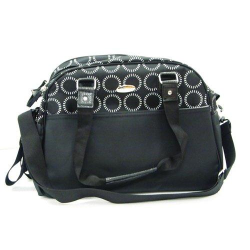 Kidiway Diaper Bag, Black with Circles Print