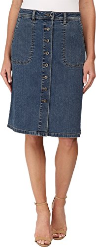 TWO by Vince Camuto Women's Denim A-Line Button Front Midi Skirt Authentic Skirt 27