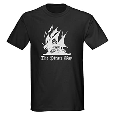 CafePress The Pirate Bay Dark T-Shirt - L Black