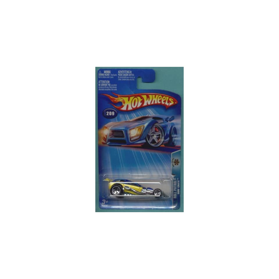 Mattel Hot Wheels 2004 164 Scale Roll Patrol Yellow Surf Crate Die Cast Police Car #209