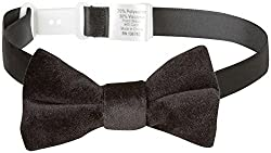 Andy & Evan Baby Boys' Velvet Bow Tie, Black, 0-24 Months