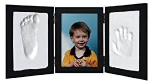 Clay Handprint & Footprint Keepsake Photo Desktop Frame - Black