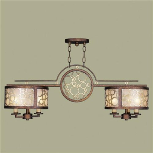 B005C0BPDO Livex Lighting 8672-64 Avalon Palatial Bronze with Gilded Accents Billiard/Island