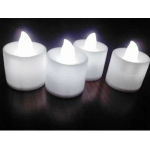 Led Flicker Flameless Candle Tea Light White
